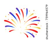 firework red  blue and yellow...   Shutterstock .eps vector #759964579