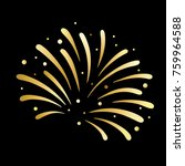 firework gold design on black... | Shutterstock .eps vector #759964588