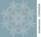 a circular blue pattern or... | Shutterstock .eps vector #759966334