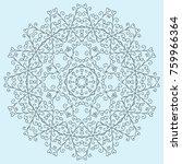 a circular blue pattern of hand ... | Shutterstock .eps vector #759966364