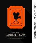 movie and film modern retro... | Shutterstock .eps vector #759974704