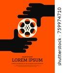movie and film modern retro...   Shutterstock .eps vector #759974710