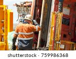 core drilling for exploration | Shutterstock . vector #759986368