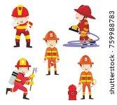 fire ranger fire fighter worker ...   Shutterstock .eps vector #759988783