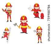 fire ranger fire fighter worker ...   Shutterstock .eps vector #759988786