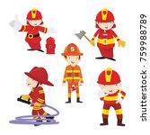 fire ranger fire fighter worker ...   Shutterstock .eps vector #759988789