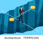 isometric business concept of... | Shutterstock . vector #759992104