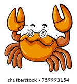 yellow crab with dizzy eyes... | Shutterstock .eps vector #759993154