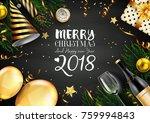 vector illustration of merry... | Shutterstock .eps vector #759994843