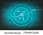 icon investment with digital...   Shutterstock .eps vector #759997609