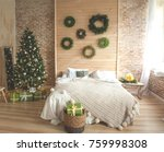 christmas and new year... | Shutterstock . vector #759998308
