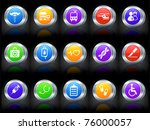 medical icon on button with... | Shutterstock .eps vector #76000057