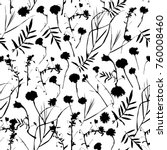natural floral seamless pattern ... | Shutterstock . vector #760008460