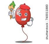 artist balloon character... | Shutterstock .eps vector #760011880