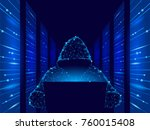internet security cyber attack... | Shutterstock .eps vector #760015408