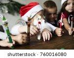 Little Kids Holding Christmas...