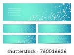 set of modern scientific... | Shutterstock .eps vector #760016626