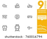 transport collection. expanded... | Shutterstock .eps vector #760016794
