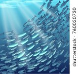 a lot of fish cant swim in the... | Shutterstock .eps vector #760020730