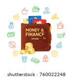 money finance concept with... | Shutterstock .eps vector #760022248