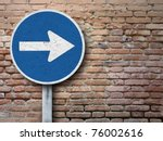 old sign on old wall   Shutterstock . vector #76002616