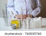 the scientist dermatologist... | Shutterstock . vector #760035760