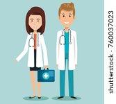 healthcare professionals design | Shutterstock .eps vector #760037023