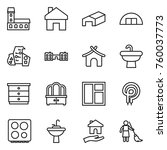 thin line icon set   mansion ...   Shutterstock .eps vector #760037773