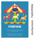 funfair advertisement poster... | Shutterstock .eps vector #760039006