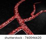 3d illustration of blood vessel ...   Shutterstock . vector #760046620