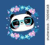 hand drawn panda bear vector...   Shutterstock .eps vector #760048168