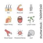 human body part and internal... | Shutterstock .eps vector #760049260