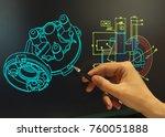 Engineer Working Computer Mechanical Piece - Fine Art prints