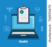health medicine online icons | Shutterstock .eps vector #760053670