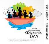 vector illustration of a banner ... | Shutterstock .eps vector #760054156