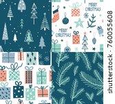 merry christmas seamless... | Shutterstock .eps vector #760055608