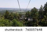 ski lift at cheyenne mountain... | Shutterstock . vector #760057648