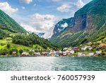 sognefjord in norway. country... | Shutterstock . vector #760057939