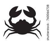 crab silhouette vector   Shutterstock .eps vector #760066738