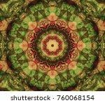 abstract kaleidoscope...   Shutterstock . vector #760068154