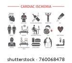 cardiac ischemia. symptoms ... | Shutterstock . vector #760068478
