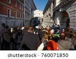 venice italy  tourists visite... | Shutterstock . vector #760071850