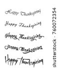 happy thanksgiving. vector... | Shutterstock .eps vector #760072354
