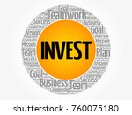 invest word cloud collage ... | Shutterstock .eps vector #760075180