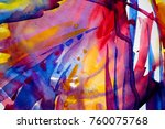 abstract watercolor texture.... | Shutterstock . vector #760075768