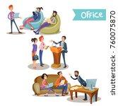 set of vector illustrations of... | Shutterstock .eps vector #760075870