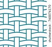 basket weave seamless pattern.... | Shutterstock .eps vector #760076170