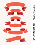 vector collection of decorative ... | Shutterstock .eps vector #760076188