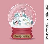 Christmas Card With Snow Globe...