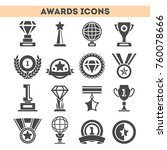 champion awards of different... | Shutterstock .eps vector #760078666